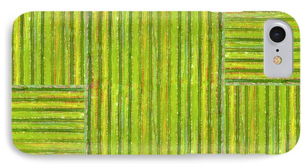 Grassy Green Stripes Phone Case by Michelle Calkins