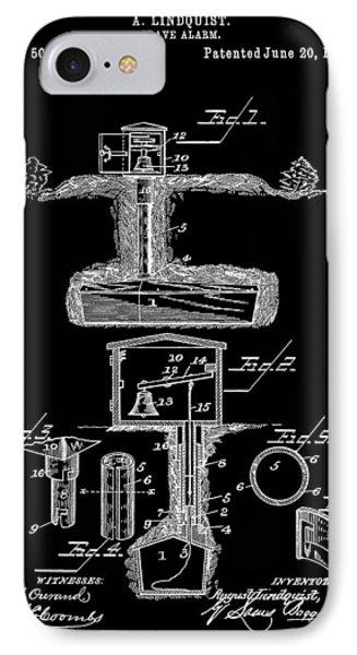 Grave Alarm IPhone Case by Dan Sproul