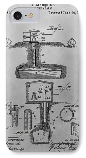 Grave Alarm Patent Drawing IPhone Case