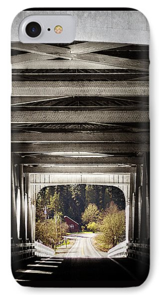 Grave Creek Covered Bridge Phone Case by Melanie Lankford Photography