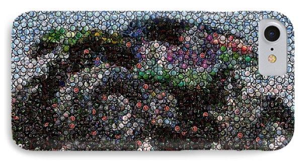 Grave Digger Bottle Cap Mosaic IPhone Case