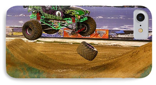 Grave Digger Loses A Wheel IPhone Case