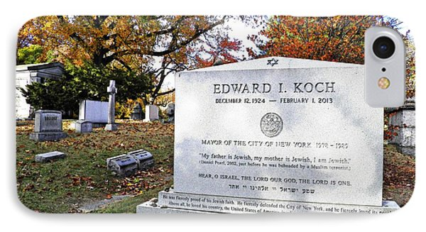 Grave Of Nyc Mayor Ed Koch IPhone Case