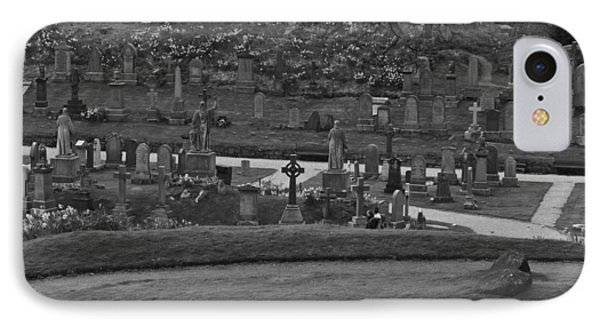 Graves At The Cemetary Next To Stirling Castle IPhone Case