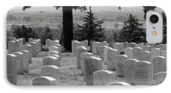 Gravestone At The Military Cemetery IPhone Case