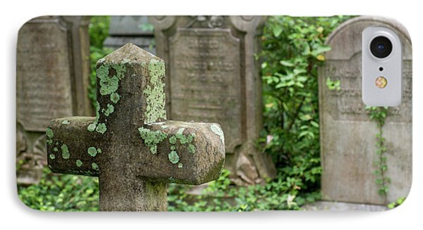 Gravestones At An Old Church Graveyard IPhone Case by Julien Mcroberts