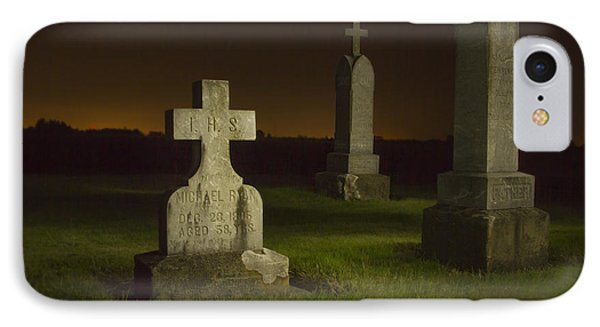 Gravestones At Night Painted With Light IPhone Case