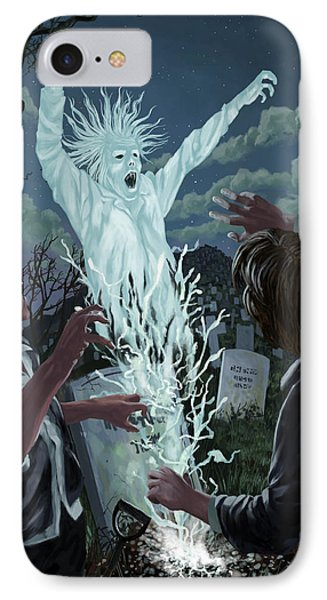 Graveyard Digger Ghost Rising From Grave Phone Case by Martin Davey