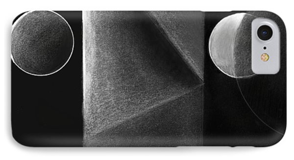 Gray And Black Abstract 3 IPhone Case by Mary Bedy