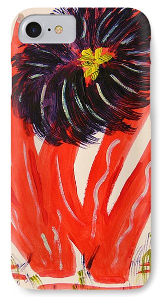 Gray And Vermillion Phone Case by Mary Carol Williams