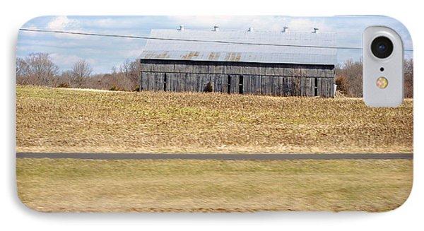 Gray Barn In A Cornfield Phone Case by Paulette B Wright