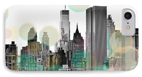Gray City Beams IPhone Case by Susan Bryant