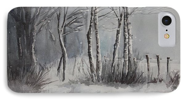Gray Forest IPhone Case by Rachel Hames