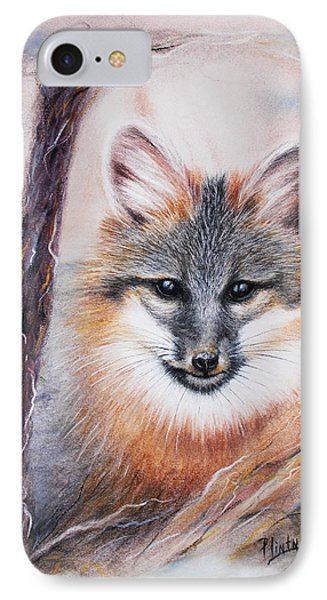 Gray Fox IPhone Case by Patricia Lintner