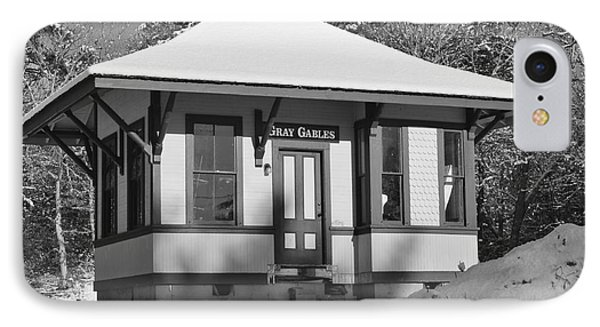 Gray Gables Train Station Phone Case by Catherine Reusch  Daley