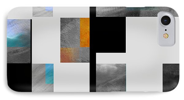 Gray Series Four Abstract Art IPhone Case by Ann Powell