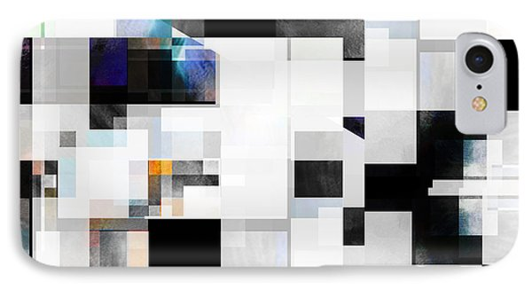 Gray Series Nine - Abstract - Art IPhone Case by Ann Powell
