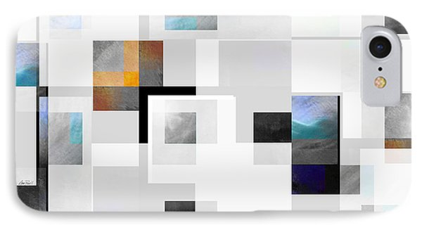 Gray Series Ten - Abstract - Art IPhone Case by Ann Powell