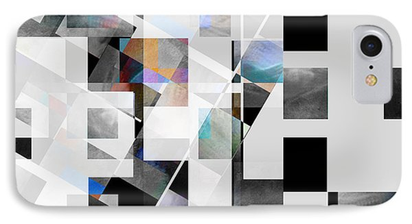 Gray Series Twelve - Abstract Art IPhone Case by Ann Powell