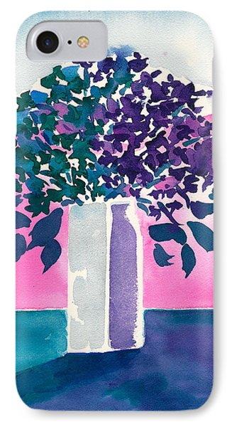 IPhone Case featuring the painting Gray Vase by Frank Bright