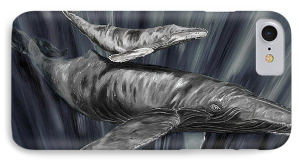 Gray Whales IPhone Case by Steve Ozment
