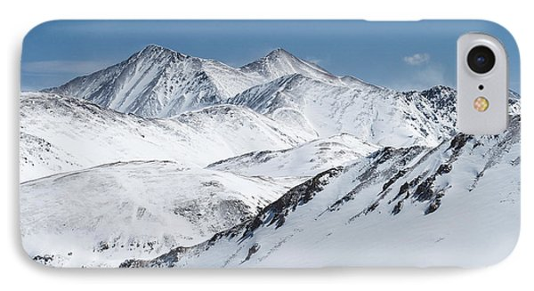 Grays And Torreys From Loveland Ski Area Phone Case by Aaron Spong