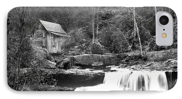 Grayscale Mill And Waterfall IPhone Case by Robert Camp