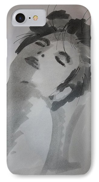 IPhone Case featuring the drawing Graytone by Steve Godleski