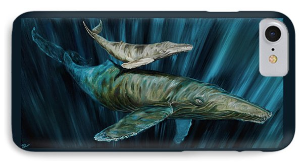 Graywhale Momma And Calf IPhone Case by Steve Ozment