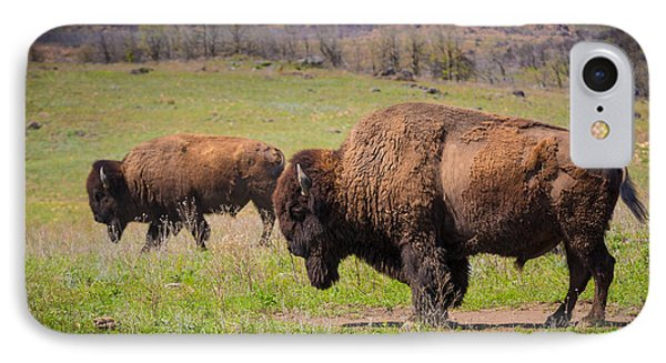 Grazing Bison IPhone Case by Inge Johnsson