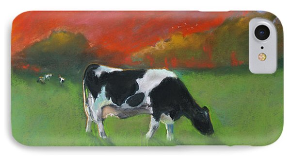 Grazing Cow IPhone Case by Robin Maria Pedrero