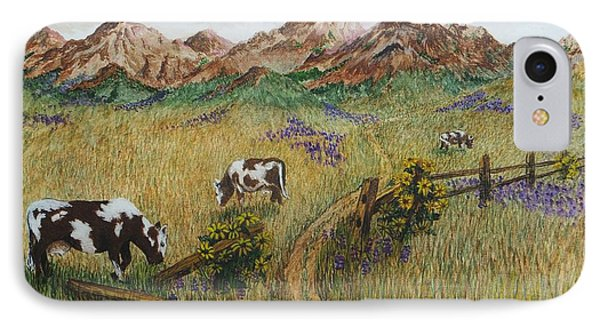 Grazing Cows IPhone Case by Katherine Young-Beck