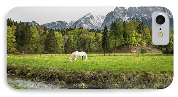 Grazing Horse In Pasture In Bavarian IPhone Case