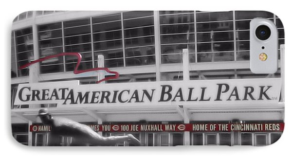 Great American Ball Park And The Cincinnati Reds IPhone Case by Dan Sproul