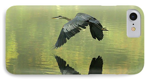 Great Blue Fly-by IPhone Case
