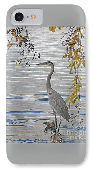 IPhone Case featuring the photograph Great Blue Heron by Ann Horn