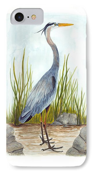 Great Blue Heron IPhone Case by Cindy Hitchcock