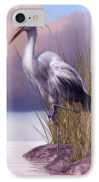 Great Blue Heron IPhone Case by Gary Hanna