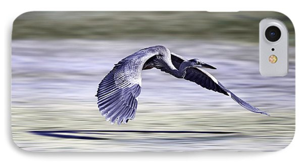 IPhone Case featuring the photograph Great Blue Heron In Flight by John Haldane