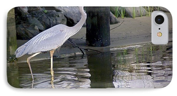 Great Blue Heron - Mealtime Phone Case by Brian Wallace