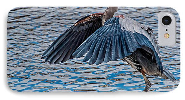 Great Blue Heron Pose IPhone Case