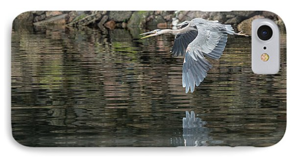 IPhone Case featuring the photograph Great Blue Heron Reflections by Jennifer Casey
