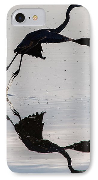 Great Blue Heron Takeoff Phone Case by John Daly