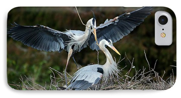 Great Blue Herons Nesting Phone Case by Sabrina L Ryan