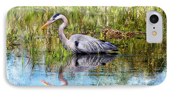 Great Blue Hunter IPhone Case by Barbara Chichester