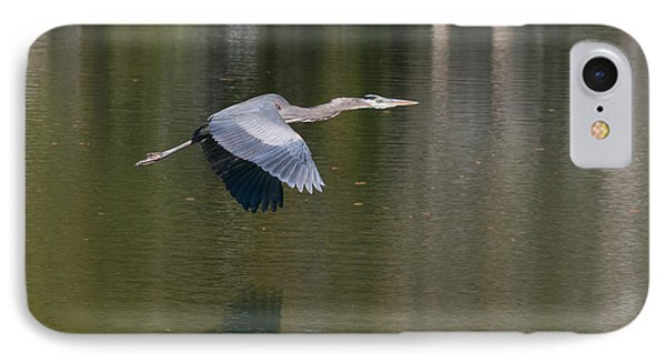 IPhone Case featuring the photograph Great Blue Over Green by Paul Rebmann