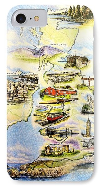 Great Britain And Ireland IPhone Case by Andrew Read