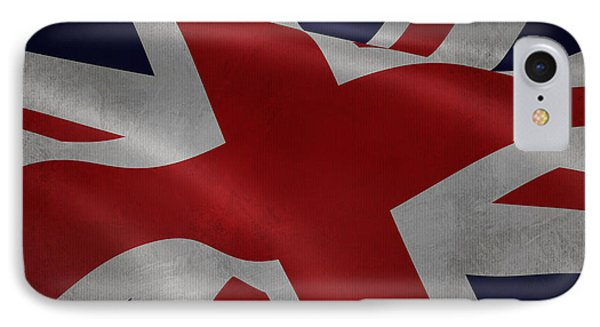 Great Britains Flag Waving On Canvas IPhone Case by Eti Reid