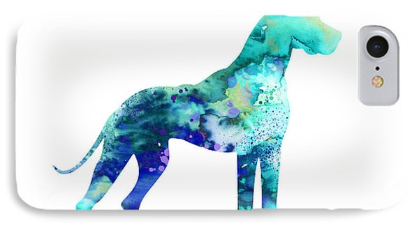 Great Dane 5 IPhone Case by Watercolor Girl
