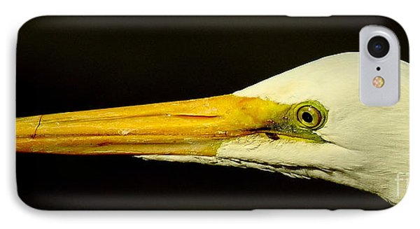 Great Egret Head Phone Case by Robert Frederick